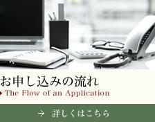 お申し込みの流れ The Flow of an Application 詳しくはこちら