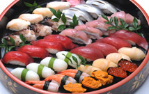 ▲お寿司の盛り合わせ01